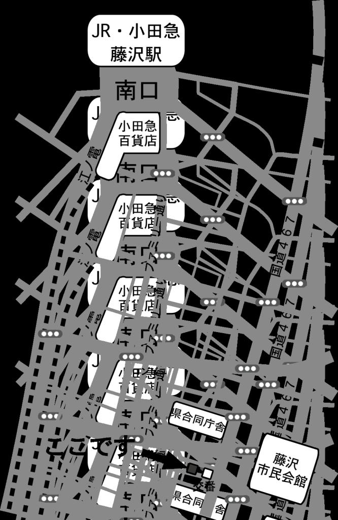 選挙事務所地図モノクロ 2